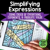 First Day of School Math Activity Simplifying Expressions