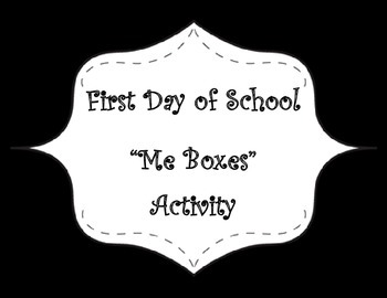 All About Me-Me Boxes Activity