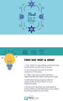 First Day of School Meet & Greet Activity
