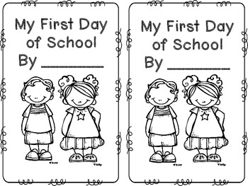 First Day Of School Mini Book Freebie By Sara Connell Tpt