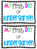 First Day of School Mini Booklet