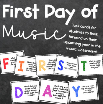 First Day of School {Music Class Edition} Task Cards