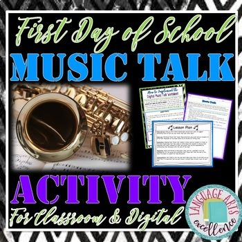 "First Day of School ""Music Talk"" Activity for Middle and High School Students"