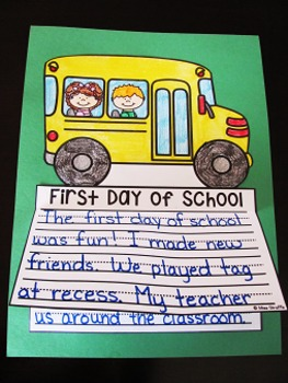 First Day of School Writing Craft Activity NO PREP