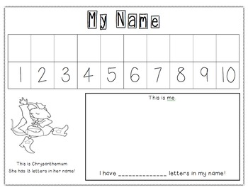 First Day of School Name Activity