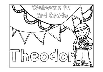 first day coloring pages for second grade | First Day of School Name Coloring Pages - 3rd Grade by ...