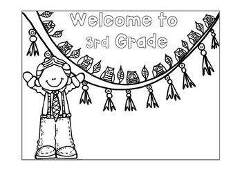 First Day of School Name Coloring Pages - 3rd Grade by Happy Little ...