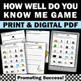 Getting to Know You Activities, Back to School All About Me Game Questions