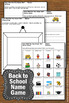Back to School Name Game & Writing Activities