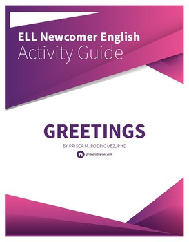First Day of School Newcomer ELL ESL ELD Greetings Activity Guide, Illustrated