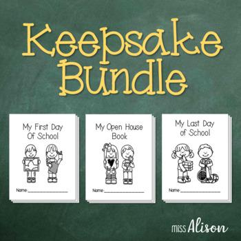First Day of School/Open House/Last Day of School Keepsake Books