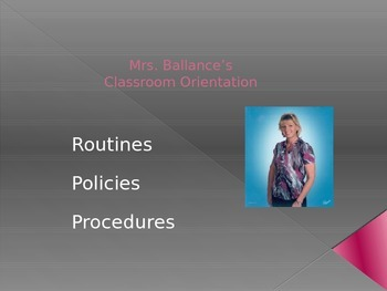 First Day of School Orientation on Classroom Procedures