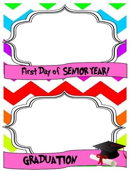 First Day of School PK-12th Chevron Picture frames