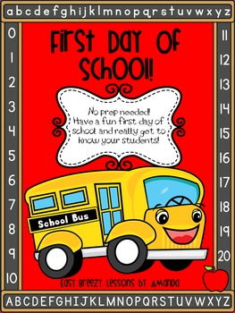 First Day of School Packet!