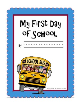 First Day of School Printables and Activities Packet