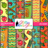 First Day of School Paper {Scrapbook Backgrounds for Task