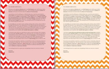 First Day of School Parent Letter - Chevron
