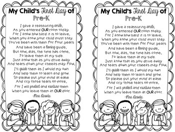 First Day of School Parent Letter (Editable)