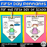 First Day of School Pennants