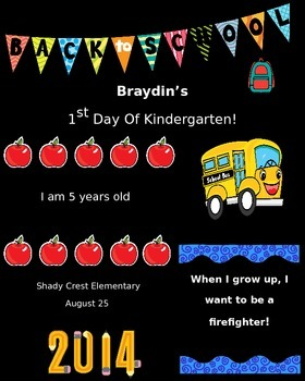 First Day of School Personalize Design