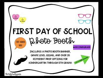 First Day of School Photo Booth Props - Bright Colors!