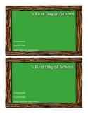 First Day of School Photo Keepsake