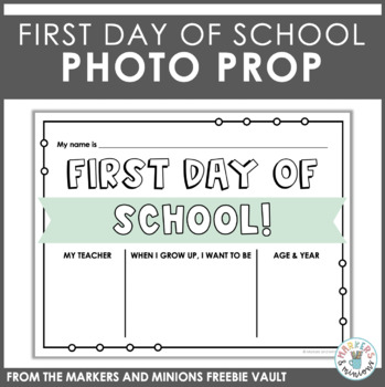 First Day of School (Photo Op!)