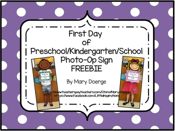 First Day of School Photo-Op Signs