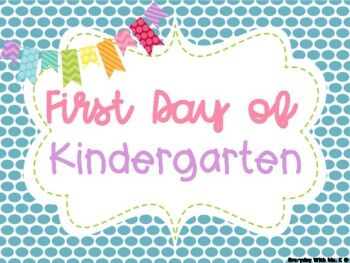 First and Last Day of School Blue Polka Dots Photo Poster Printables