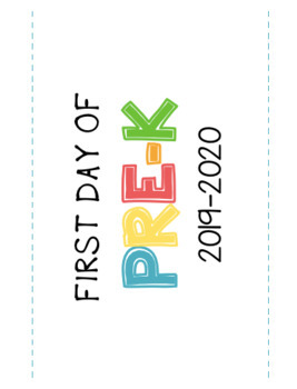 First Day of School Photo Printable