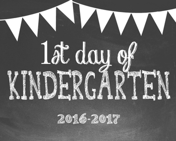 First Day of School Photo Props - Kindergarten thru 12th Grade Chalkboard Theme
