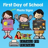 First Day of School Photo Sign