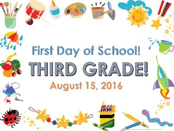First Day of School Photo Sign -  Editable!
