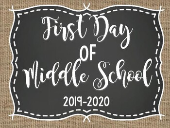 First Day of School Photo Signs *UPDATED 2017-2018*