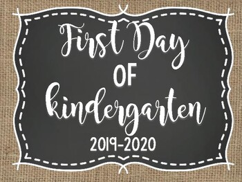 First Day of School Photo Signs *UPDATED 2018-2019*
