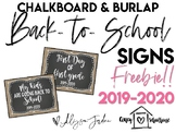 First Day of School Photo Signs *UPDATED 2019-2020*