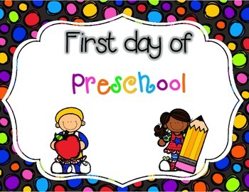 First Day of School Photo Signs FREEBIE