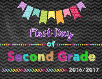 First Day of School Photograph Signs FREEBIE!