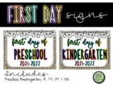 First Day of School Picture Signs