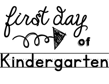 First Day of School Picture Signs *elementary version*