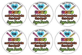 First Day of School Pins {Editable} Works for Any Grade Level!
