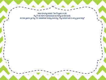 First Day of School Poem and Handprint Activity