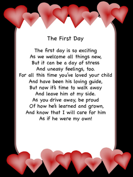 First Day of School Letter To Parents From Teacher