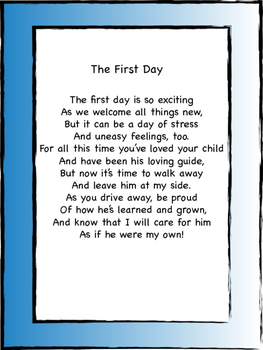 First Day Of School Letter To Parents From Teacher By Miss