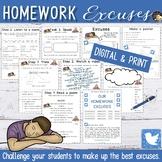 Homework Excuses Writing - EFL Lesson