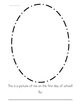 First Day of School Portrait