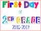 First Day of School Poster