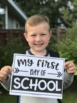 EDITABLE First Day of School Sign Poster Free