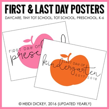 First Day of School & Last Day of School Posters