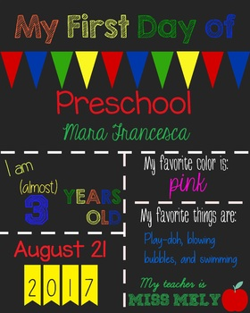 Editable First Day of School Signs - Back to School